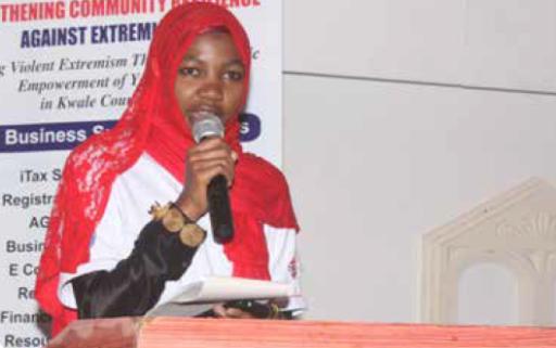 Chiku Ali, a proud beneficiary of the SCORE youth program