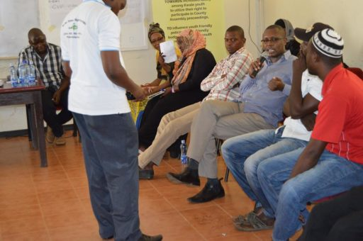 Supporting constructive dialogue between the youth and County Government of Kwale.