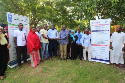 Kwale County Youth CIDP Memorandum 2018 – 2022 handed over to the Kwale County Executive Member for Finance & Economic Planning and the Chair of the Kwale County Economic Budget Forum.